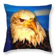 Angel The Bald Eagle Throw Pillow