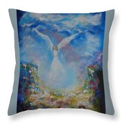 Angel Whisperings Throw Pillow