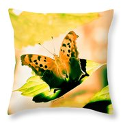 Angel Wing In Bright Pastels Throw Pillow