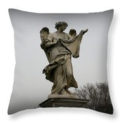 Angel With The Sudarium Throw Pillow by Kevin Flynn