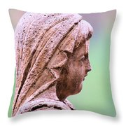 Angelface Throw Pillow