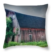 Angelica Barn In Hdr Throw Pillow