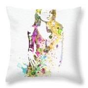 Angelina Jolie 2 Throw Pillow by Naxart Studio