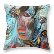 Angels For Greece Throw Pillow