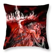 Angels Of Lust Throw Pillow