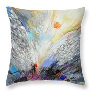 Angels Presence  - Square Painting Throw Pillow