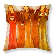 Angels Rejoicing Together Throw Pillow