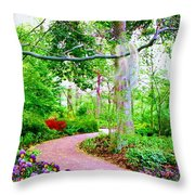 Angels Watch Over You Throw Pillow by Susanna  Katherine