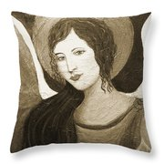 Angels Watching Over Me Throw Pillow by The Art With A Heart By Charlotte Phillips