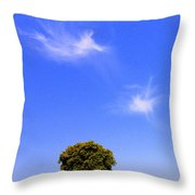 Angels Watching Over Tree Throw Pillow