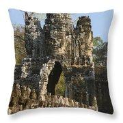 Angkor Archaeological Park II Throw Pillow