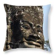 Angkor Thom Fae Throw Pillow