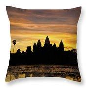 Angkor Wat At Sunrise II Throw Pillow