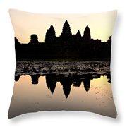 Angkor Wat At Sunrise Throw Pillow