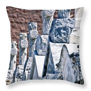 Angled Heahstones Throw Pillow