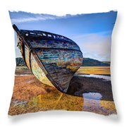 Anglesey Shipwreck Throw Pillow