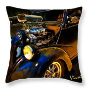 Anglia Dragster And A Duce Staged For A Grudge Run  Throw Pillow