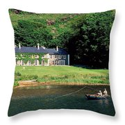 Angling, Delphi Lodge, Co Mayo, Ireland Throw Pillow