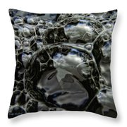 Angry Bubble Mob Throw Pillow
