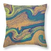 Angry Seas Throw Pillow