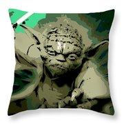Angry Yoda Throw Pillow