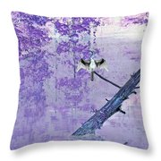 Anhinga Japanese Style Throw Pillow