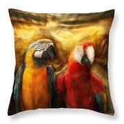 Animal - Parrot - Parrot-dise Throw Pillow