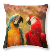 Animal - Parrot - We'll Always Have Parrots Throw Pillow