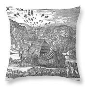 Animals Entering The Ark Throw Pillow