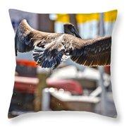 Animals Humans Throw Pillow