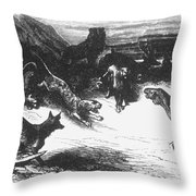 Animals Sick Of The Plague Throw Pillow