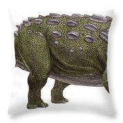 Ankylosaurus Magniventris Throw Pillow