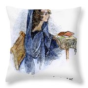 Ann Bronte (1820-1849) Throw Pillow by Granger