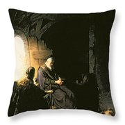 Anna And The Blind Tobit Throw Pillow