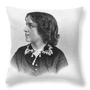 Anna Elizabeth Dickinson Throw Pillow