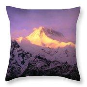 Annapurna South At Sunrise, Nepal Throw Pillow
