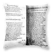 Anne Bradstreet Poems Throw Pillow