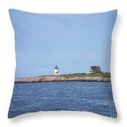 Annisquam Harbor Lighthouse Throw Pillow