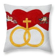 Anniversary Hearts Throw Pillow
