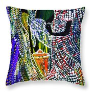 Anointing Of Jesus Throw Pillow