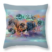 Another Birthday 112 Years Throw Pillow by Kathy Tarochione