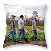Another Cotton Pickin' Day Throw Pillow