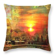 Another Day In Poverty Throw Pillow