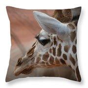 Another Giraffe Throw Pillow
