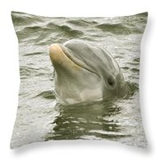 Another Smiling Pose Throw Pillow