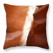 Antelope Canyon - The Mystery Of Nature's Creativity Throw Pillow by Christine Till