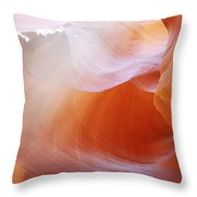Antelope Canyon Light Beams - Unearthly Beauty Throw Pillow by Christine Till