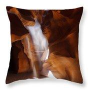 Antelope Canyon Light Throw Pillow
