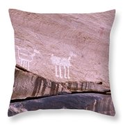 Antelope House Petroglyphs Throw Pillow