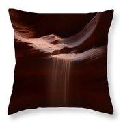 Antelope Slot Canyon Sand Throw Pillow